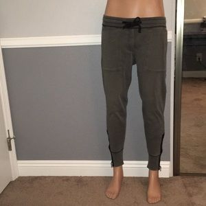 MENS GAP Coal Gray Joggers with side zippers!